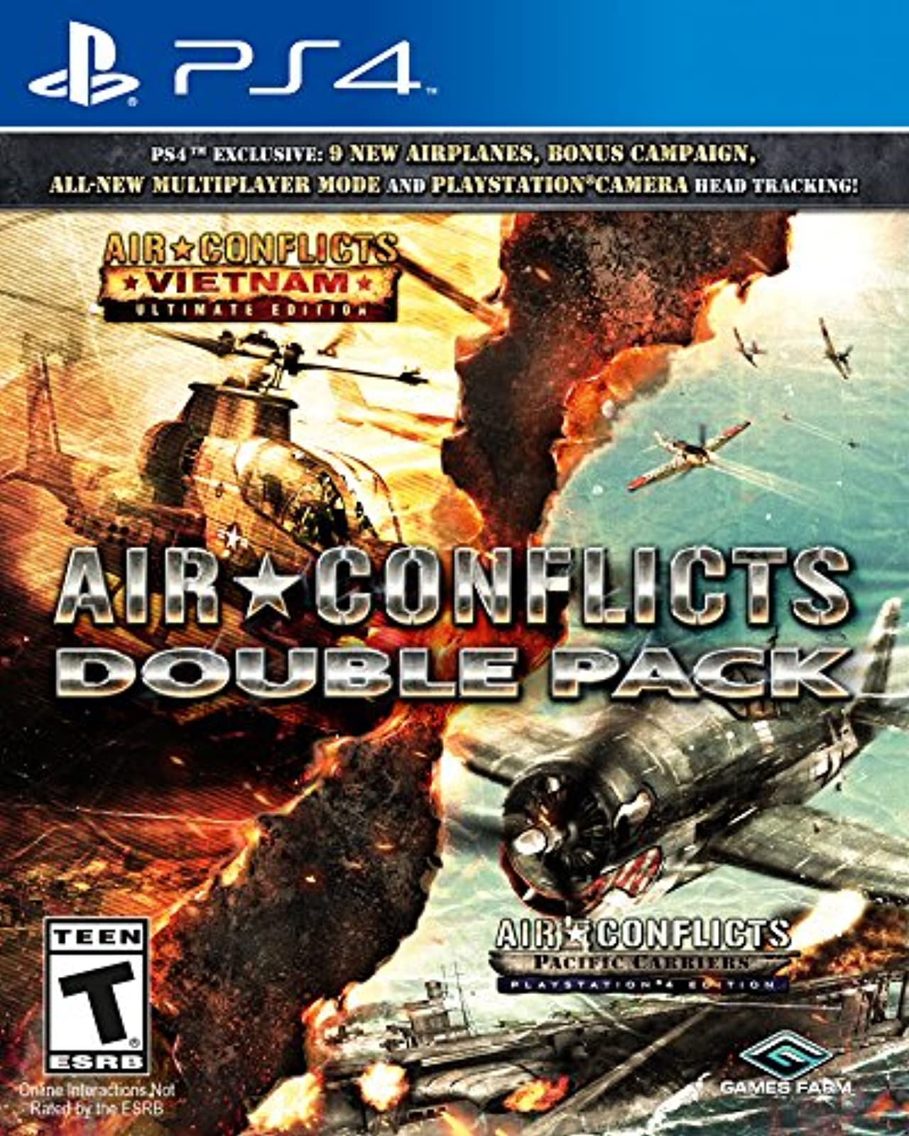 Air Conflicts Double Pack For PlayStation 4 PS4 Shooter