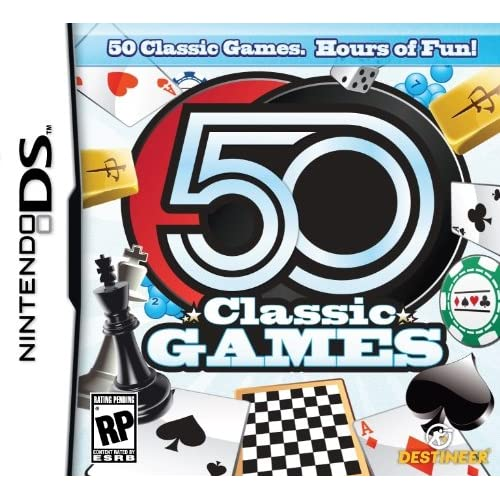 50 Classic Games For Nintendo DS DSi 3DS Board Games