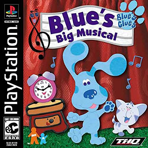 Blue's Clues Blues Big Musical For PlayStation 1 PS1
