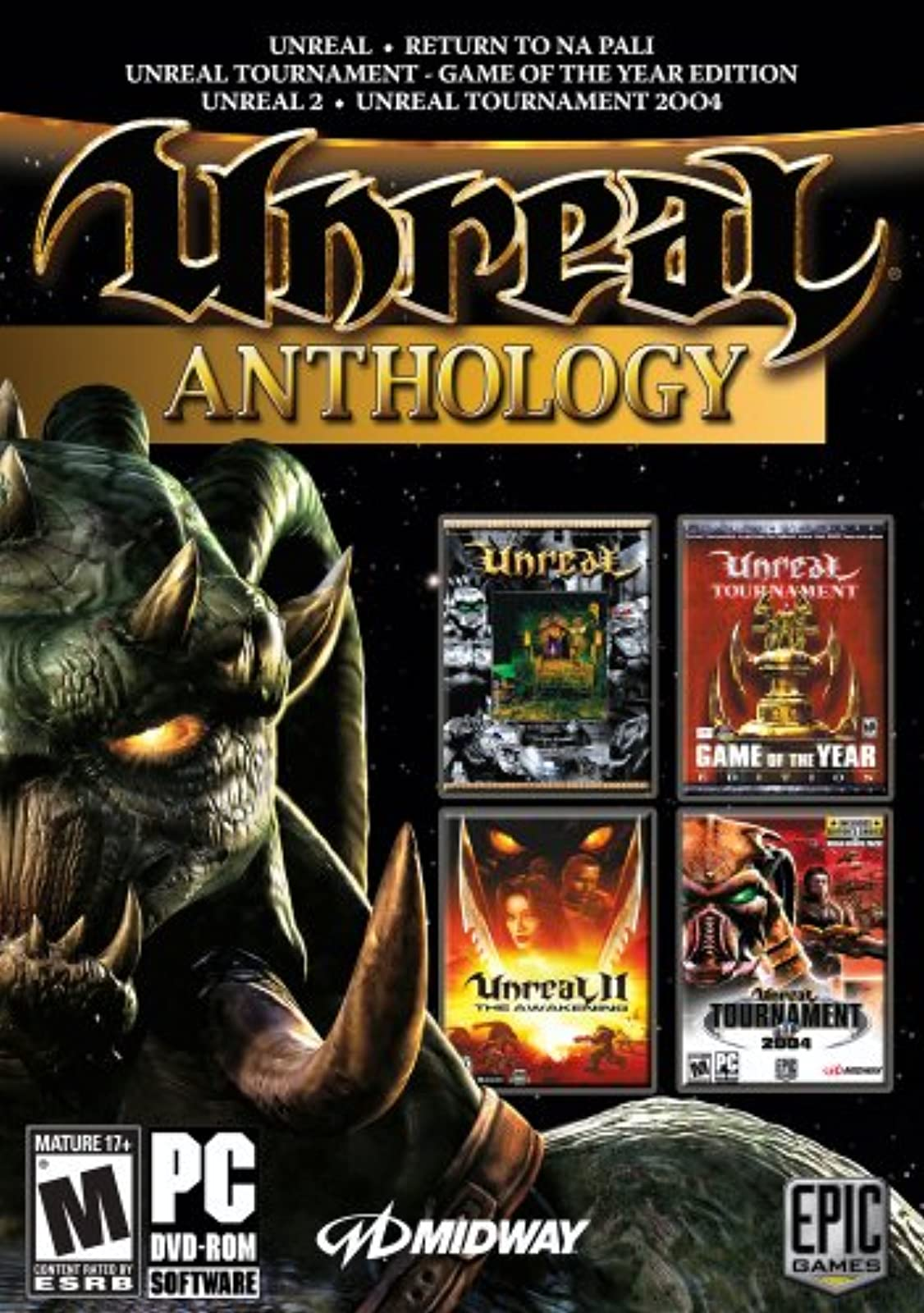 Unreal Anthology PC Software Game