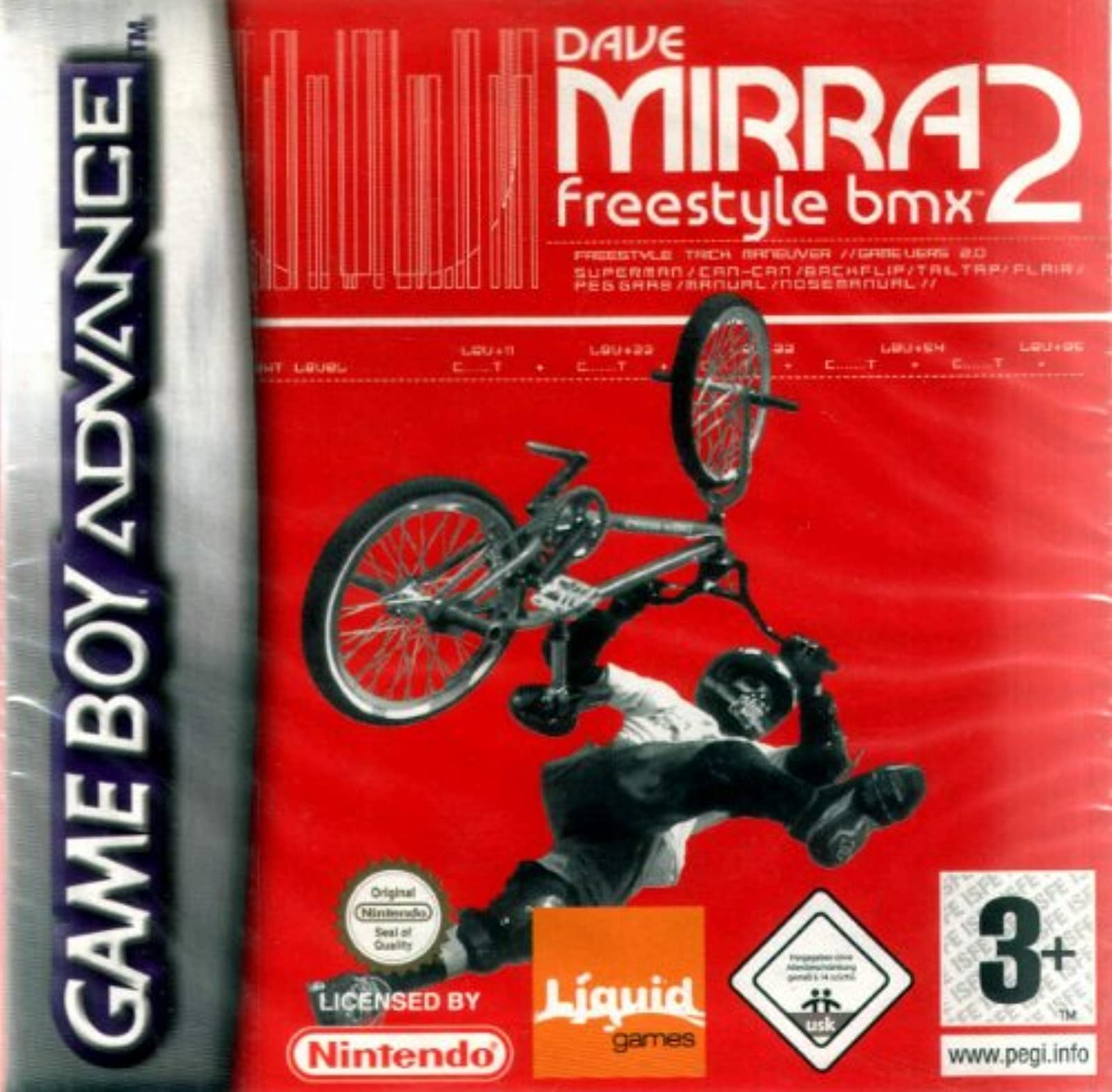 Dave Mirra BMX 2 GBA For GBA Gameboy Advance Racing