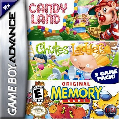Candyland / Chutes And Ladders / Memory For GBA Gameboy Advance