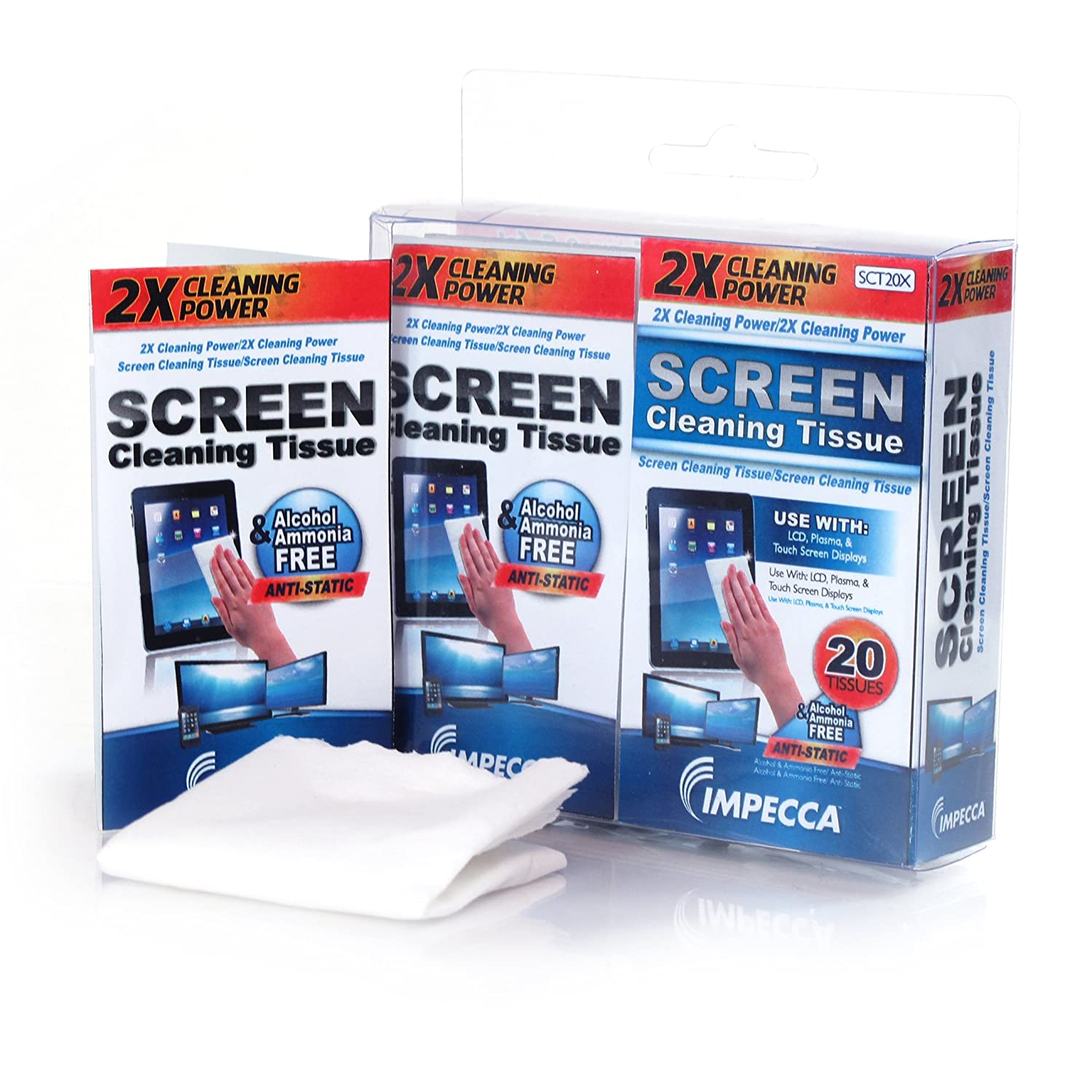 On-The-Go Screen Cleaning Wipes 20 Wipes Set